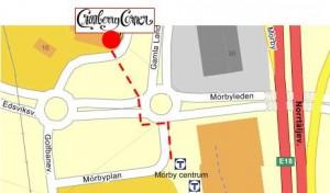 karta till Cranberry Corner