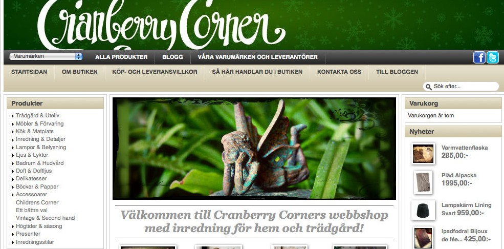 Cranberry Corners webbshop http://webshop.cranberrycorner.se/