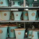 Kew Garden krukor i olika modeller i färgen Tiffany Blue